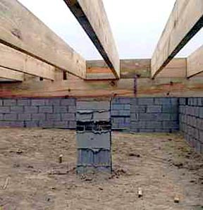 Pier Column, Beam, and Joists