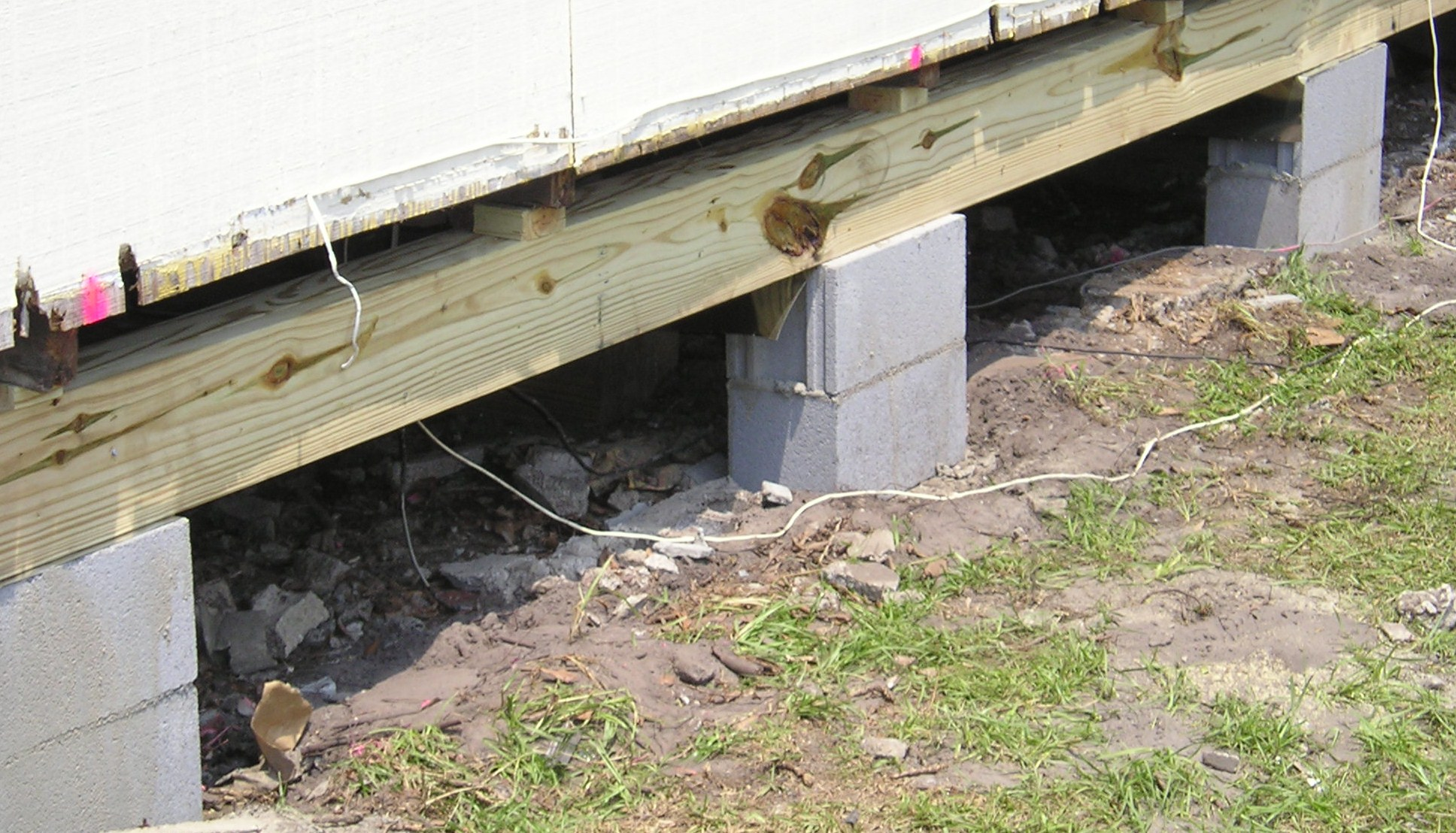 Foundation joist beam sill and settlement repair in for Home foundation